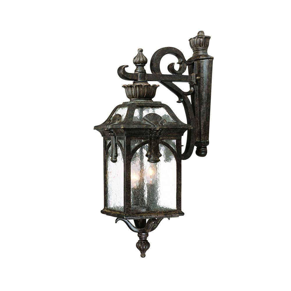 Acclaim Lighting Belmont Collection 3-Light Black Coral Outdoor Wall-Mount Light Fixture