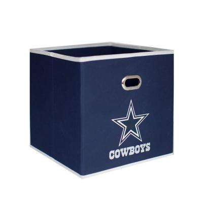 Dallas Cowboys NFL Store-Its 10-1/2 in. W x 10-1/2 in. H x 11 in. D Navy Blue Fabric Drawer