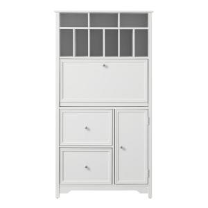 Deals on Home Decorators Collection 32-in Bradstone White Secretary Desk