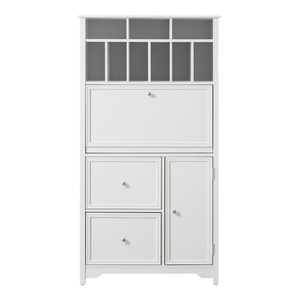 Home Decorators Collection 32-in Bradstone White Secretary Desk Deals