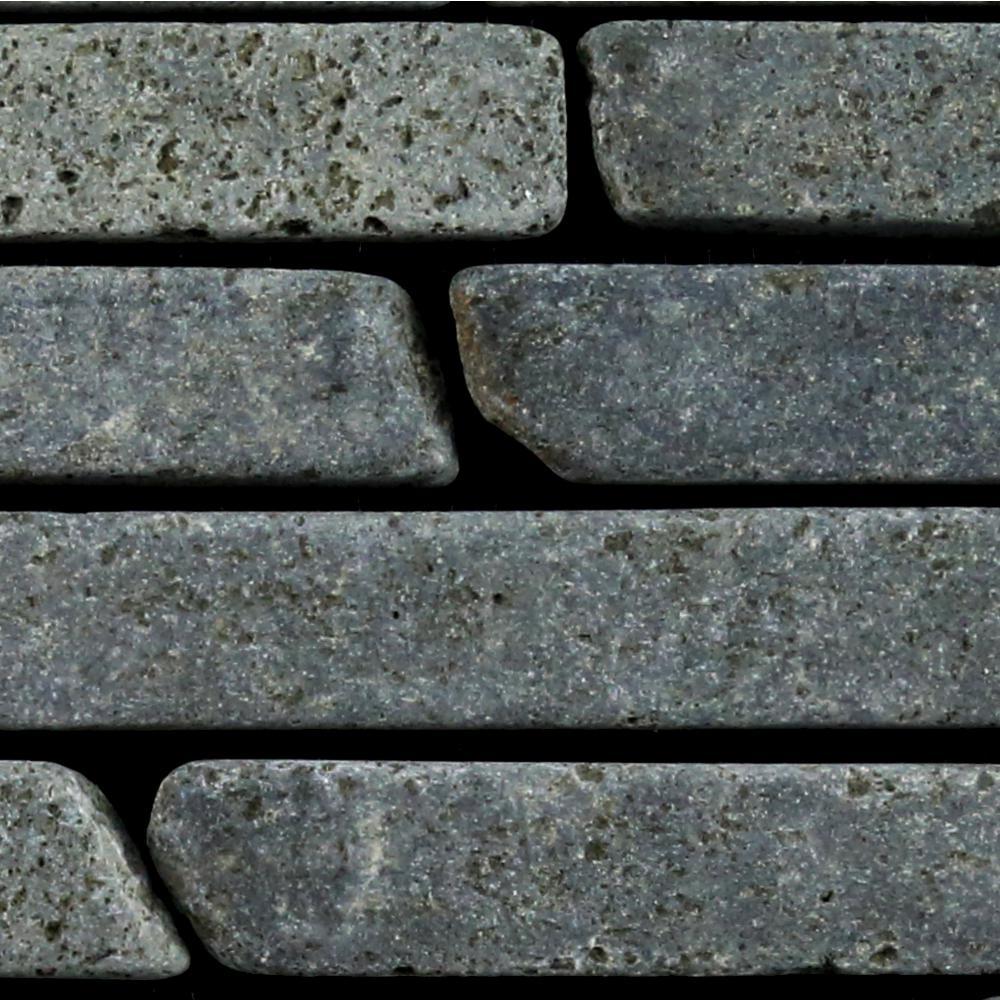 Sticks Mosaic Tile Sample Color Black 4 in. x 6 in.