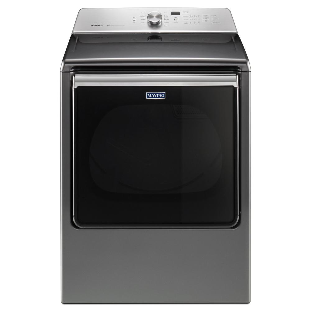 Maytag 8.8 cu. ft. 120-Volt Chrome Shadow Gas Vented Dryer with Advance Moisture Sensing