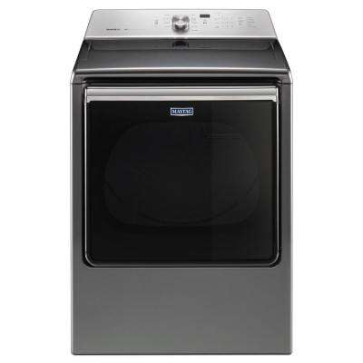 8.8 cu. ft. 120-Volt Metallic Slate  Gas Vented Dryer with Advance Moisture Sensing