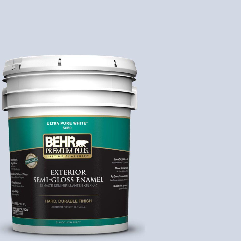 5-gal. #S540-1 So Blueberry Semi-Gloss Enamel Exterior Paint