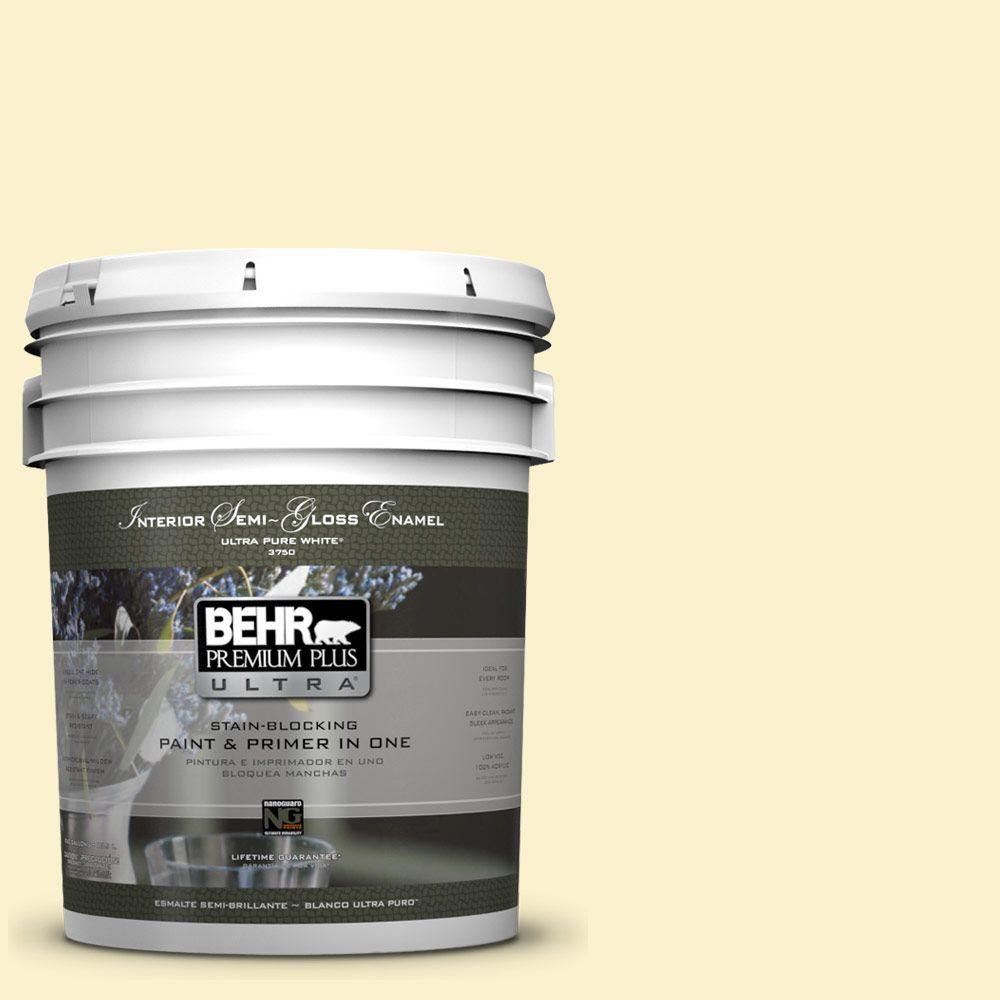 5 gal. #390A-3 Twinkle Semi-Gloss Enamel Interior Paint and Primer in