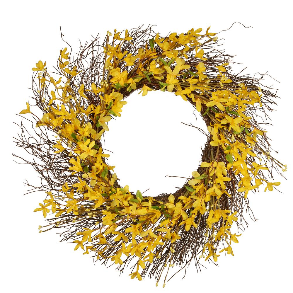 National Tree Company 24 In Spring Wreath Jr15 Js33391 The Home Depot