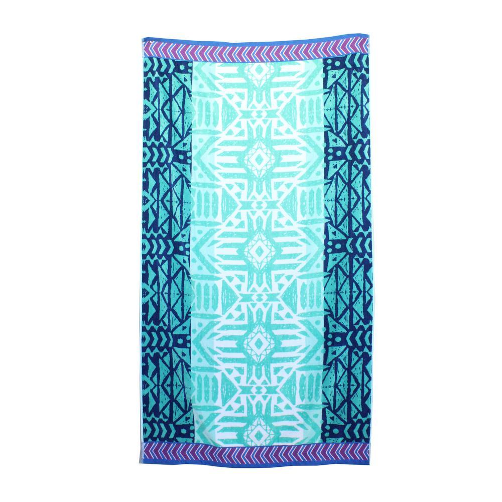 Tribal Jacquard Yarn Dye Beach Towel Tribal Jacquard Yarn Dye Beach Towel