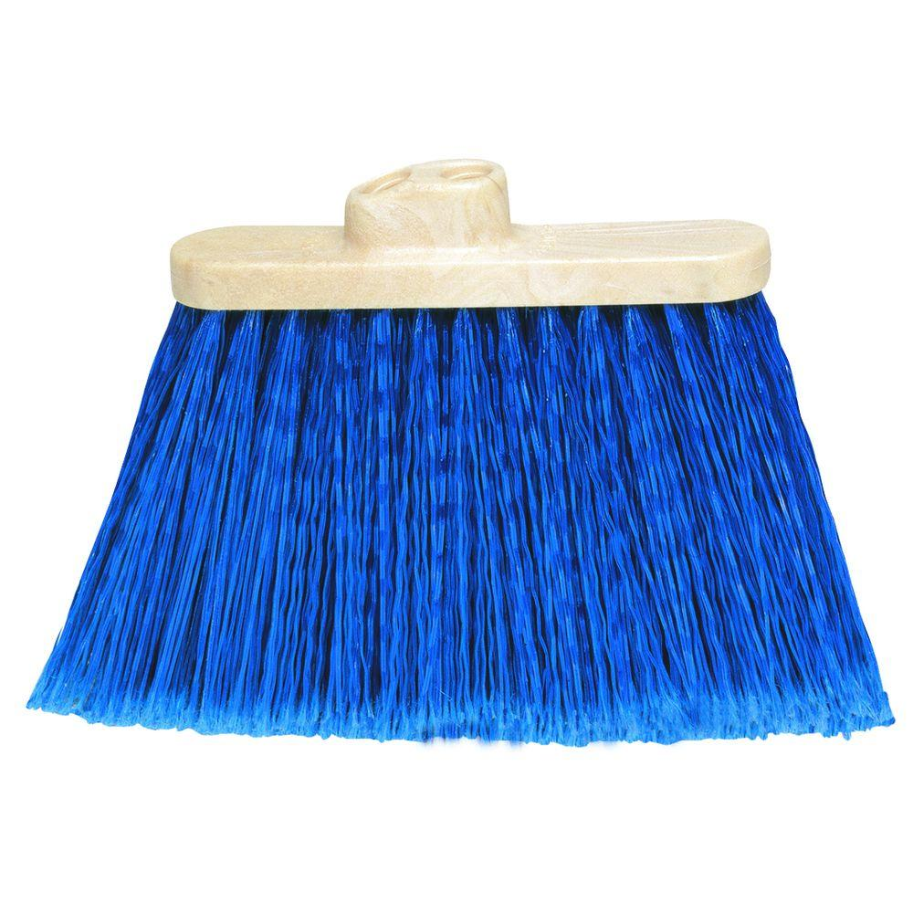 13 in. Duo-Sweep Warehouse Flagged Broom Head (Handle Not Included) (Case