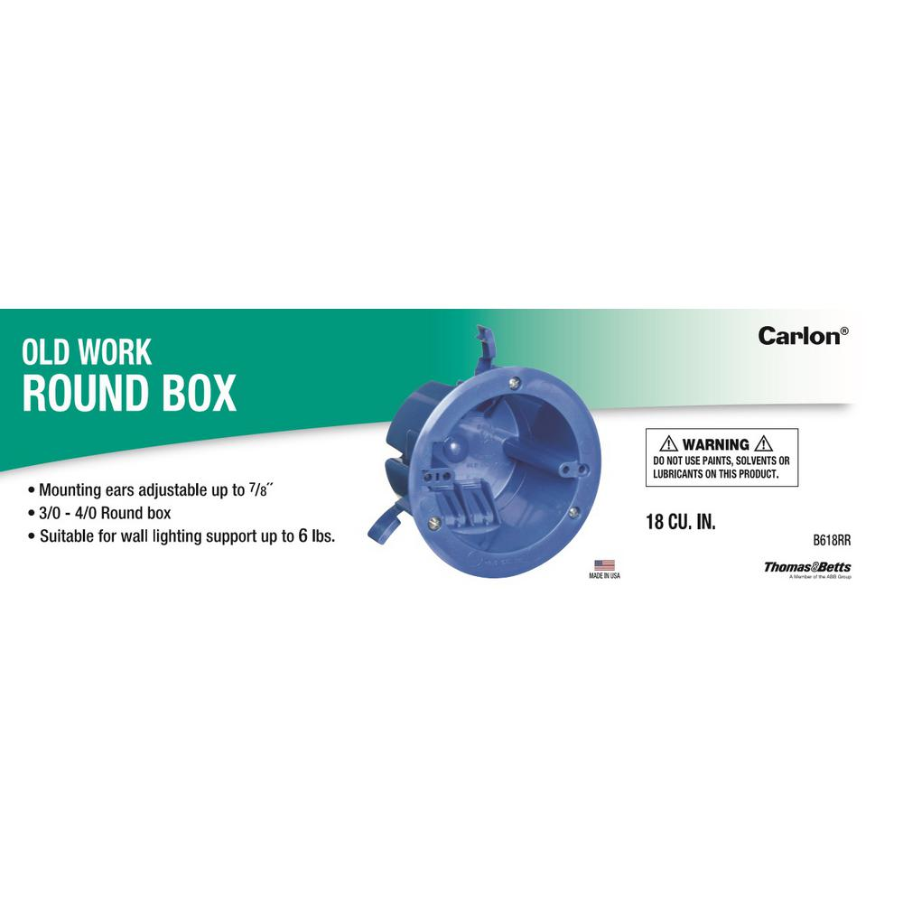 Round Old Work Electrical Ceiling Box