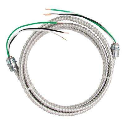 12/2 x 10 ft. Stranded CU MC (Metal Clad) Armorlite Cable Whip
