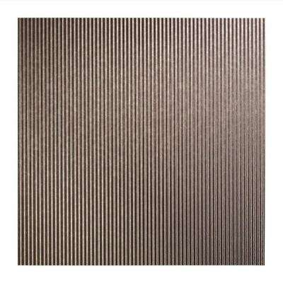 Rib - 2 ft. x 2 ft. Lay-In Ceiling Tile in Galvanized Steel