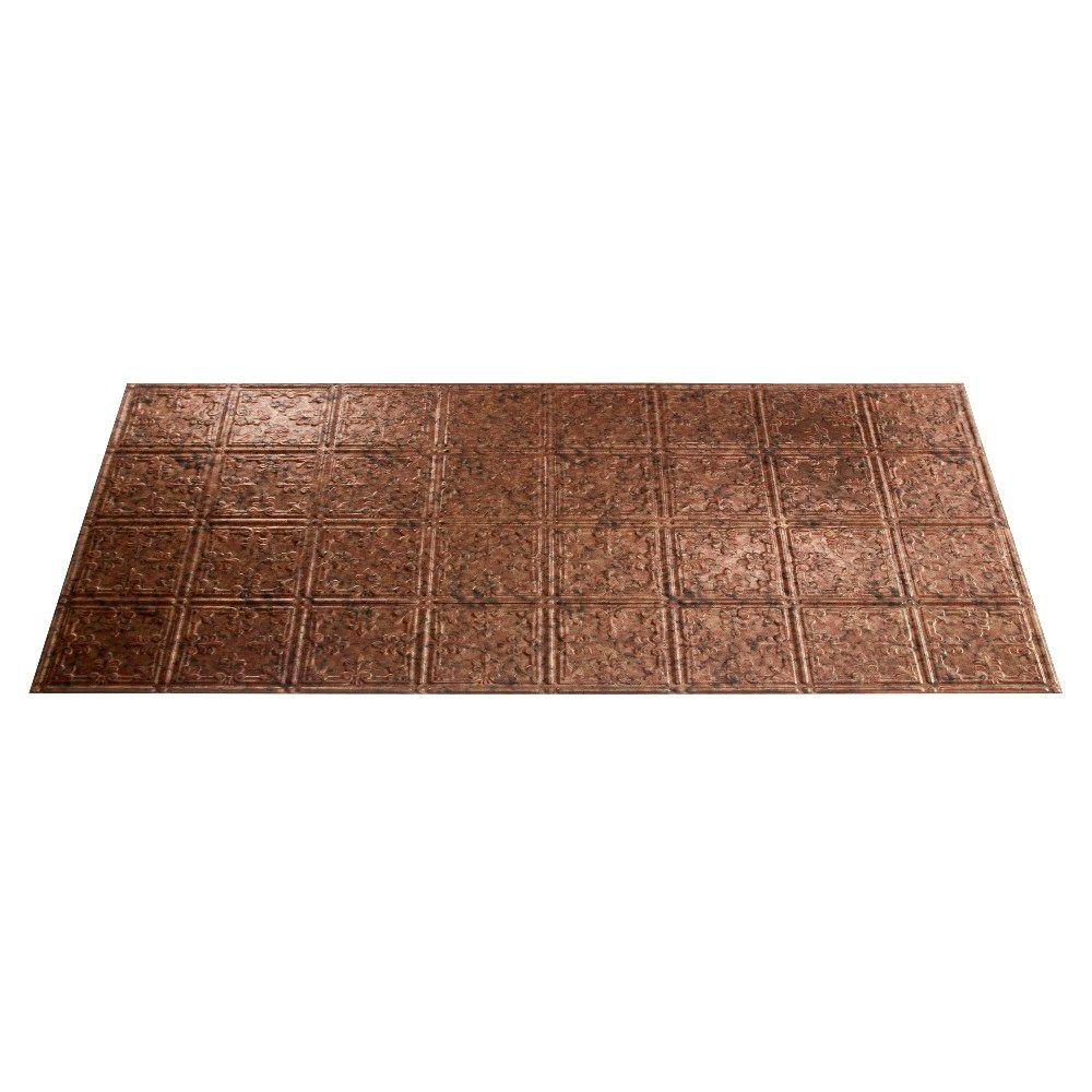 Fasade Traditional 10 2 ft. x 4 ft. Cracked Copper Lay-in Ceiling Tile