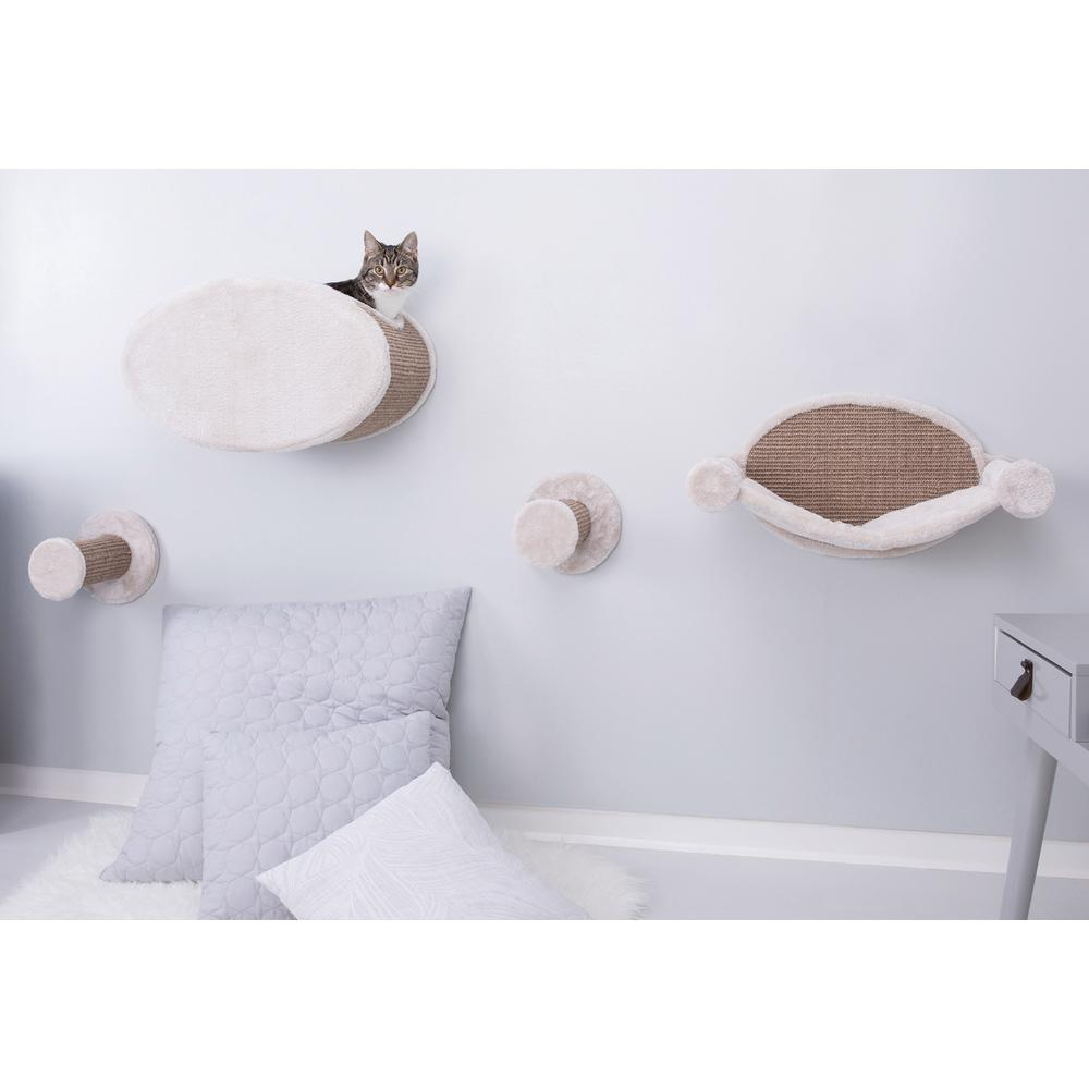 Brown Wall Mount Cat Playground and Condo
