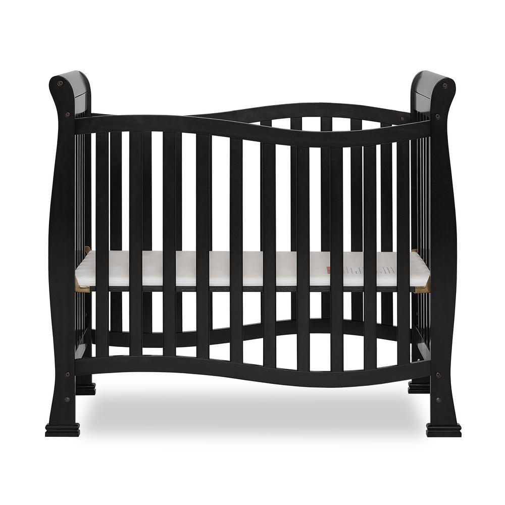 Piper Black 4-in-1 Convertible Mini Crib