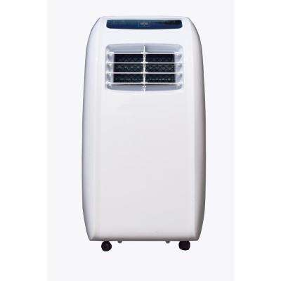8,000 BTU Portable Air Conditioner Cooling/Dehumidifying with Remote Control in White