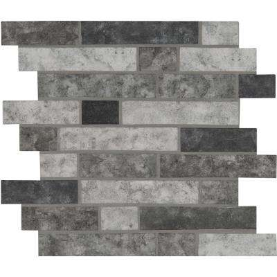 Urban Tapestry Interlocking 11.81 in. x 11.81 in. x 6 mm Glass Mesh-Mounted Mosaic Tile