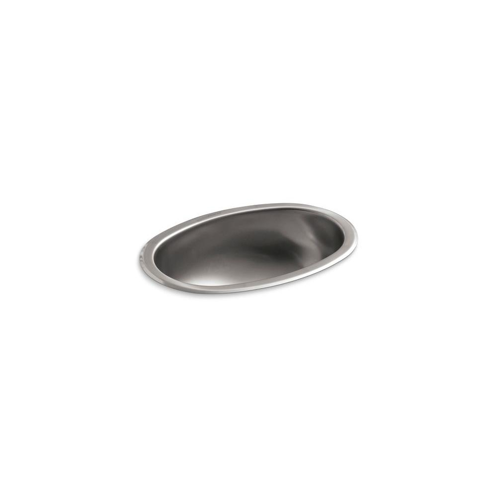Bolero Undermount Stainless Steal Bathroom Sink with Satin Finish in