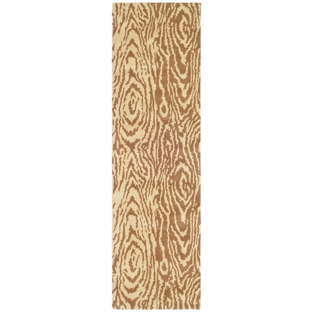 Martha Stewart Living Layered Faux Bois Sequoia 2 ft. 3 in. x 8 ft. Rug Runner
