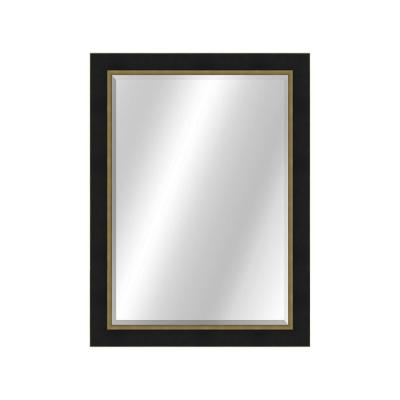 Two Toned 22 x 28 Value Core Black/Gold Framed Vanity Mirror