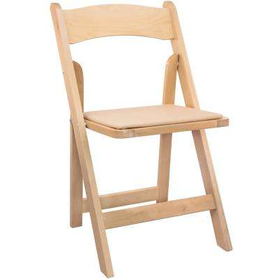 Natural Wood Folding Wedding Chair