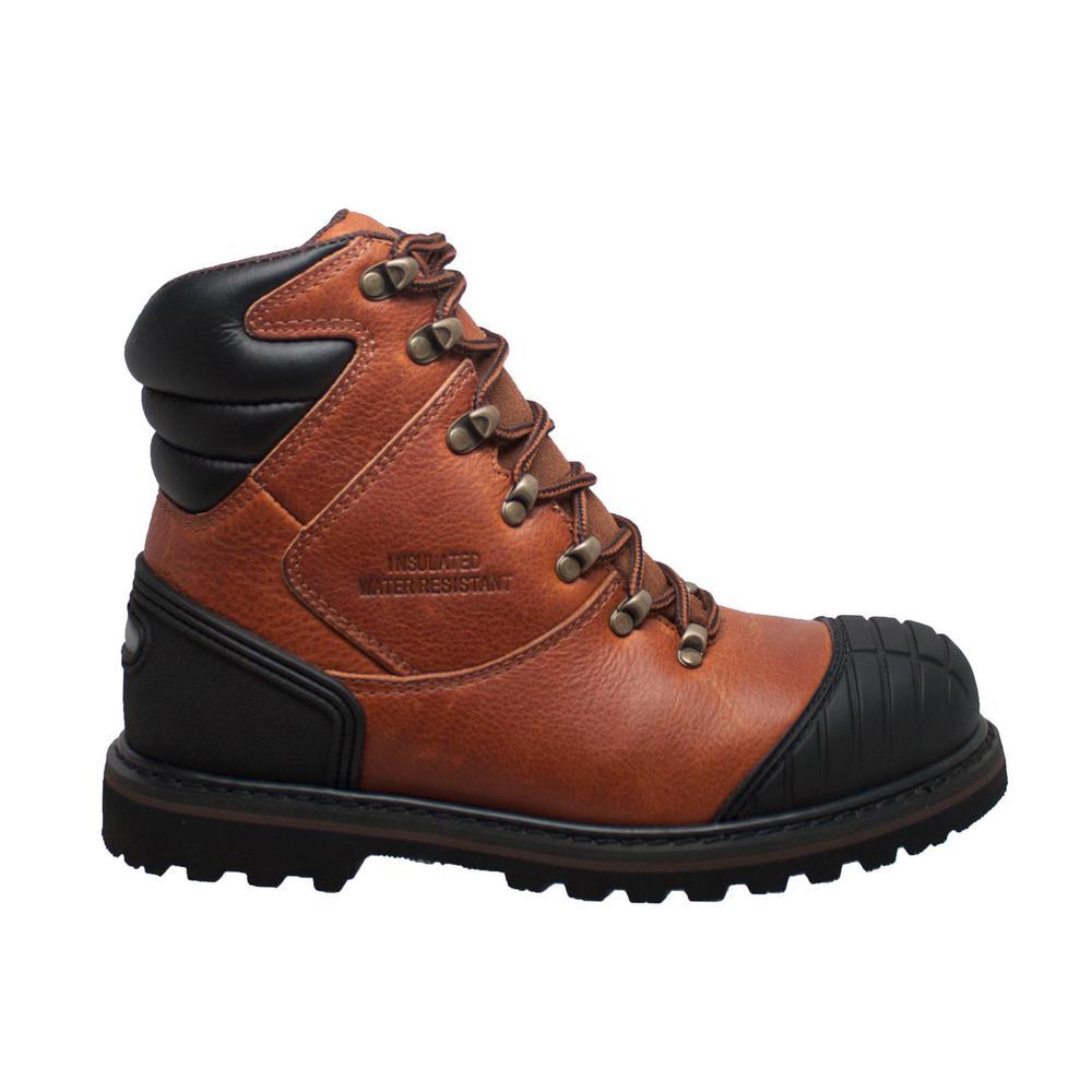 0295163f0d2 Adtec Men's Wide 8 Black Crazy Horse Leather Steel Toe Logger Boot ...