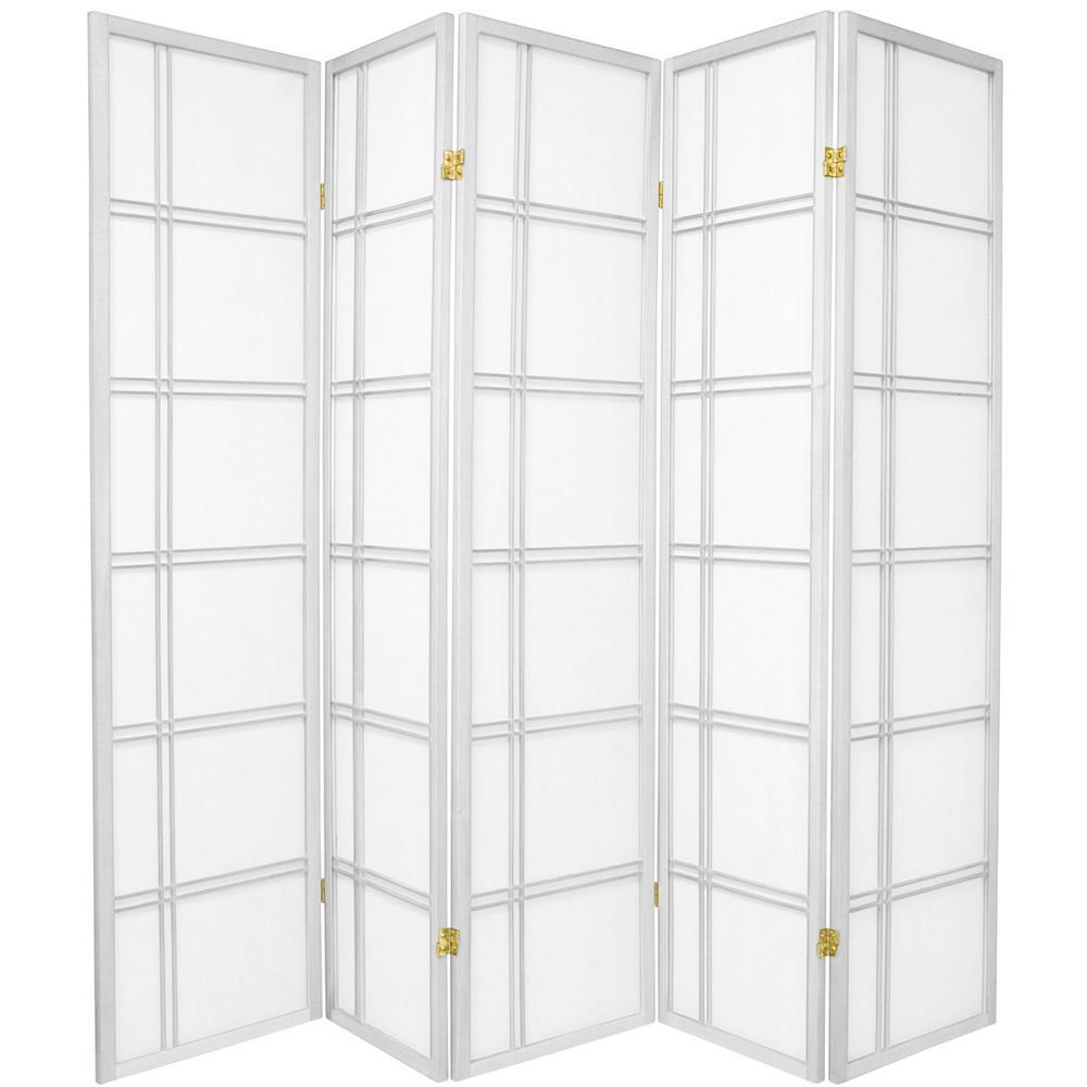 6 ft white 5 panel room divider cdblx 5p wht the home depot rh homedepot com 5 panel wood room divider 5 panel room dividers walmart