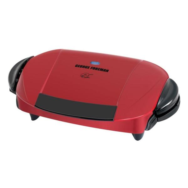 George Foreman 103 sq. in. Red Indoor Grill with Removable Plates