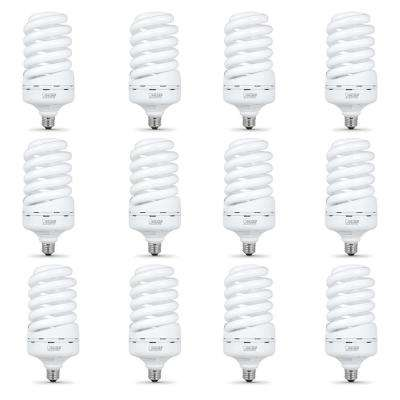65-Watt Soft White A21 Spiral CFL Light Bulb (12-Pack)