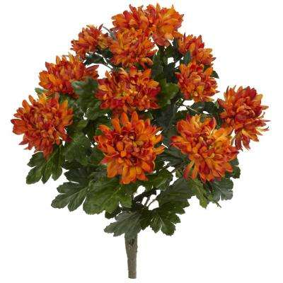 Indoor 22 in. Spider Mum Artificial Plant (2-Set)