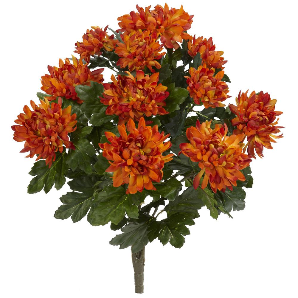 Nearly Natural Indoor 22 In Spider Mum Artificial Plant 2 Set
