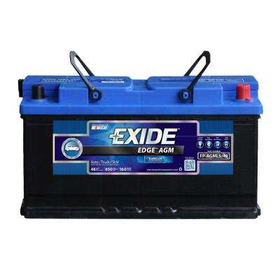 Edge 12 volts Lead Acid 6-Cell L5/49/H8 Group Size 850 Cold Cranking Amps (BCI) Auto AGM Battery
