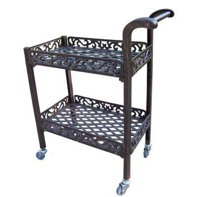 Wheels Cast Aluminum Outdoor Bar Carts