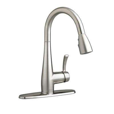 Quince Single-Handle Pull-Down Sprayer Kitchen Faucet in Stainless Steel