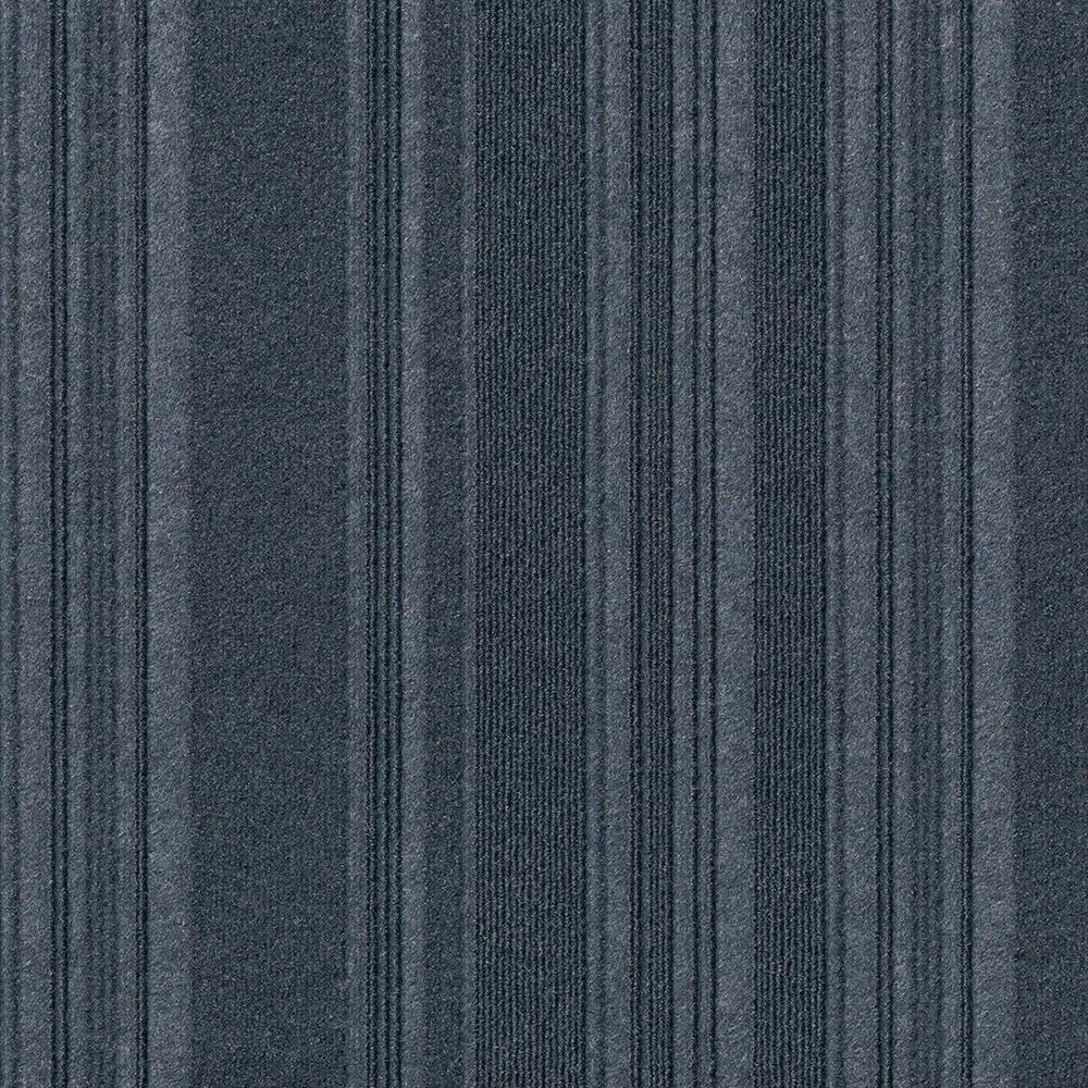 Foss Premium Self-Stick First Impressions Barcode Rib Denim Texture 24 in. x 24 in. Carpet Tile (15 Tiles/60 sq. ft./case)