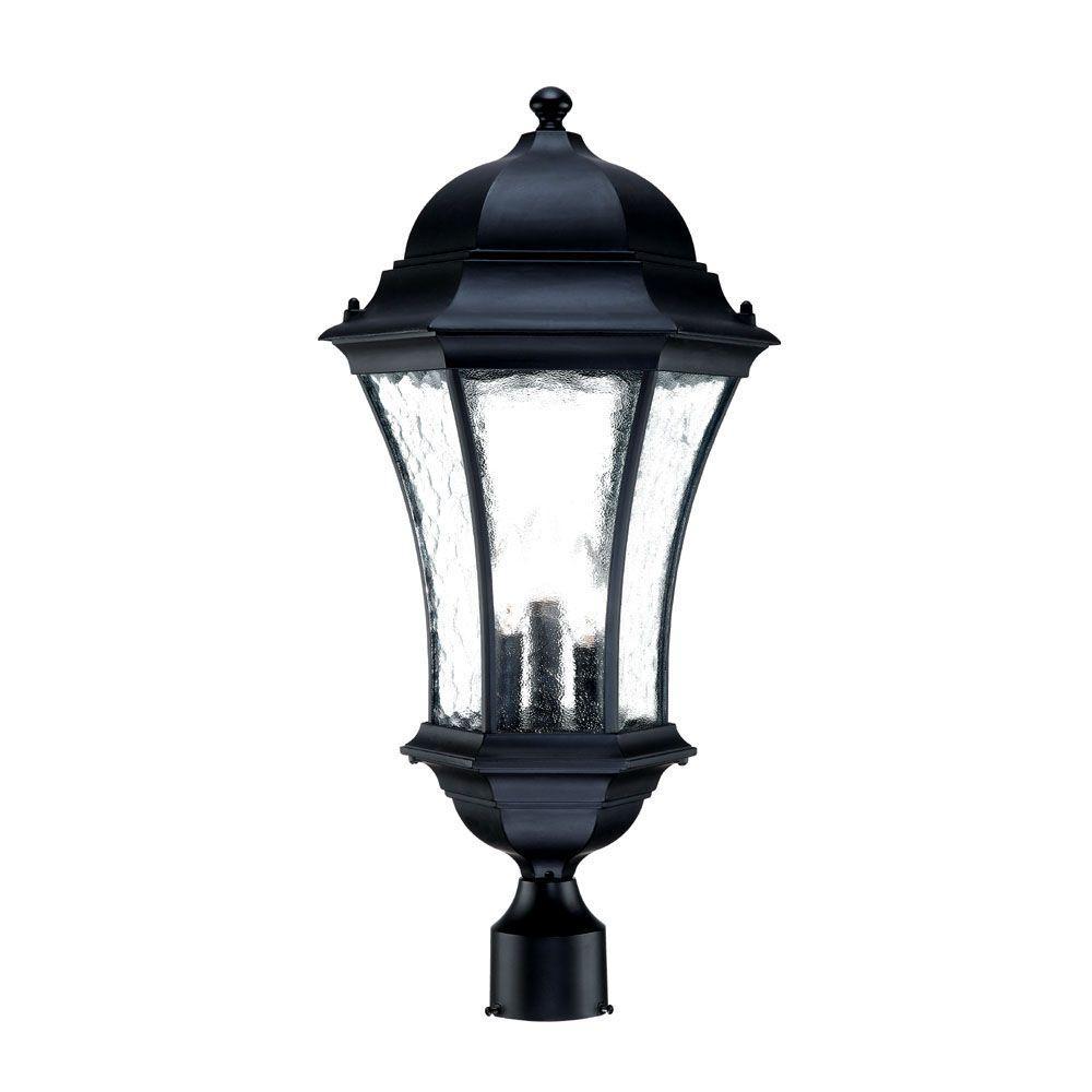 Acclaim Lighting Somerset 1 Light Matte Black Outdoor Post: Acclaim Lighting Waverly Collection 3-Light Outdoor Matte