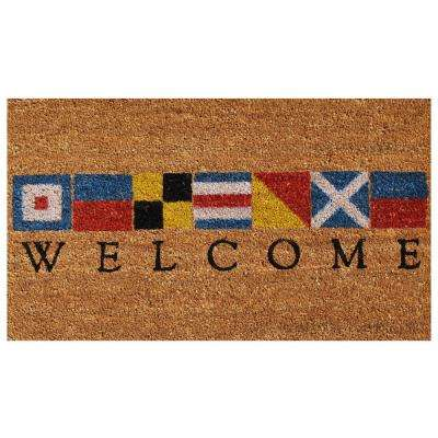 Nautical Welcome 24 in. x 36 in. Door Mat
