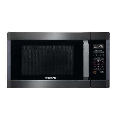 Black 1.6 cu. ft.1300-Watt Countertop Microwave in Stainless Steel with Smart Sensor Cooking