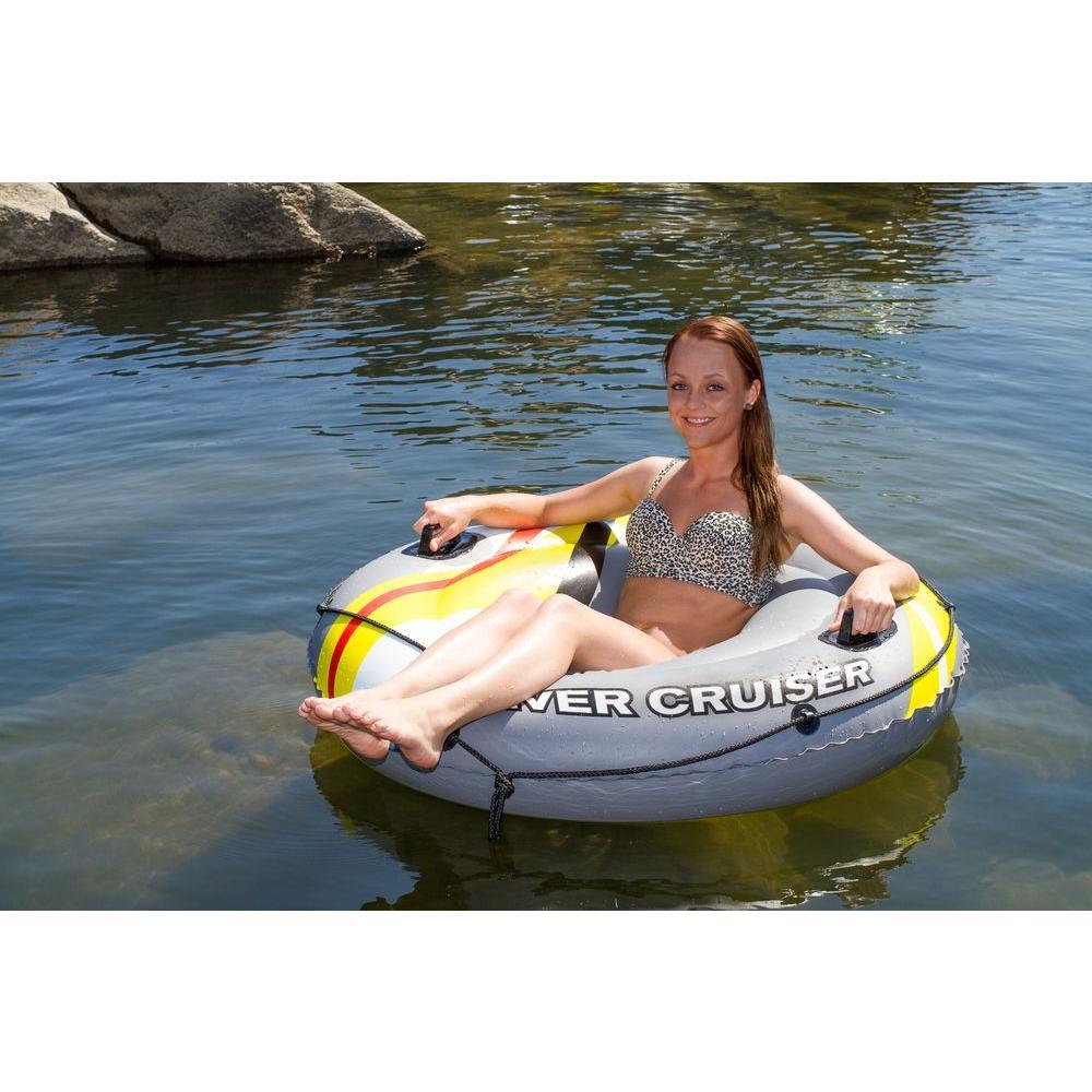 Poolmaster Poolmaster Deluxe River Cruiser Inner Tube Float, Gray