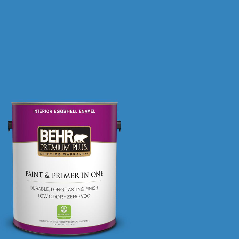 BEHR Premium Plus 1-gal. #560B-6 Warm Spring Zero VOC Eggshell Enamel Interior Paint