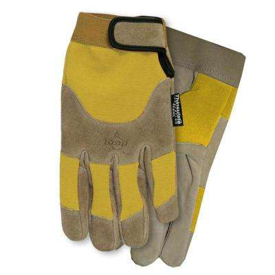 Yellow PBR Suede Lined Glove