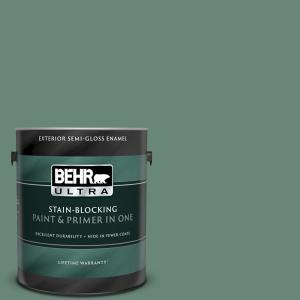 Behr Ultra 1 Gal S420 5 Sycamore Grove Semi Gloss Enamel Exterior Paint And Primer In One 585301 The Home Depot