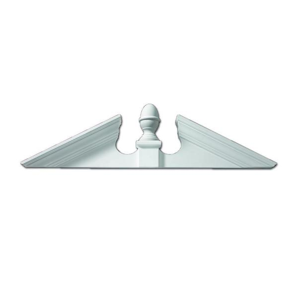 115 in. x 25-5/8 in. x 4-1/2 in. Polyurethane Adjustable Acorn Pediment