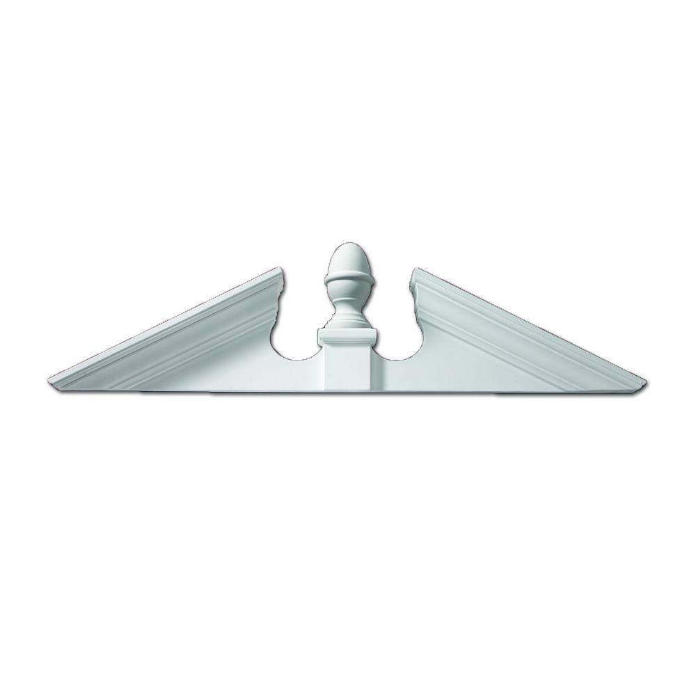 Fypon 61 in. x 16-3/4 in. x 4-1/2 in. Polyurethane Acorn Pediment