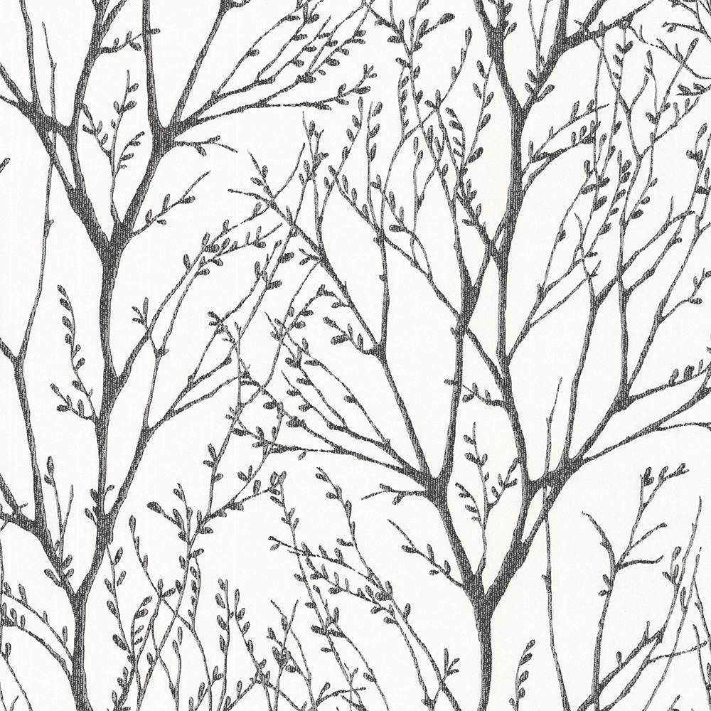 56 4 Sq Ft Delamere Black Tree Branches Wallpaper