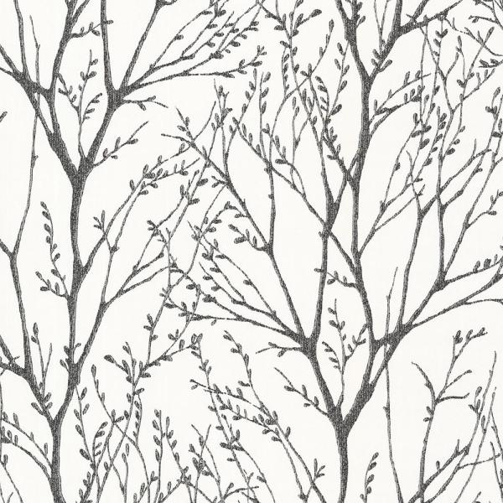 Brewster 56.4 sq. ft. Delamere Black Tree Branches Wallpaper 2532-20424