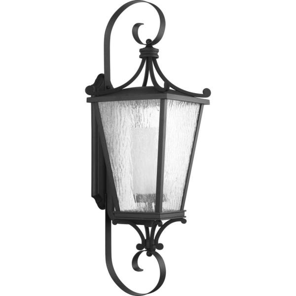 Cadence 1-Light Black Outdoor Extra-Large Wall Lantern Sconce