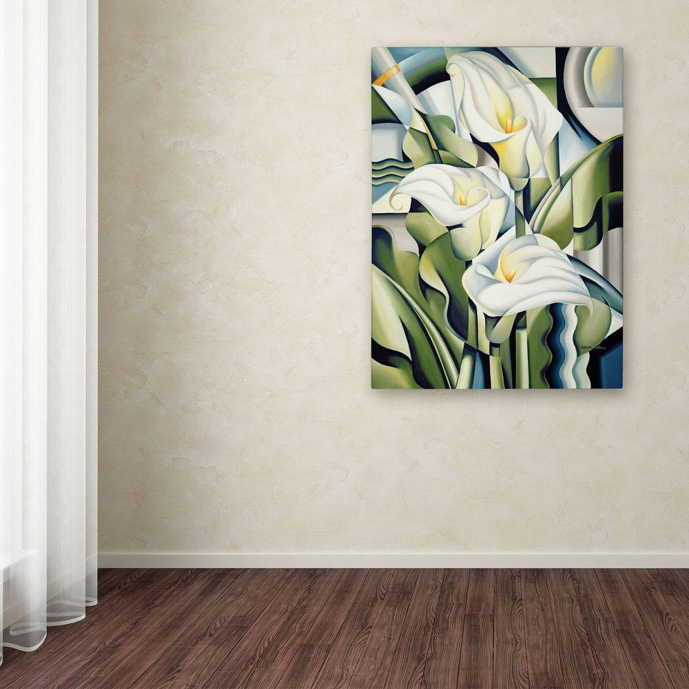 32 in. x 24 in. Cubist Lilies Canvas Art