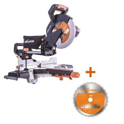 15 Amp 10 in. Multi-Material Optimized Sliding Miter Saw with 50 Miter and Extra 28T Multi-Material Blade