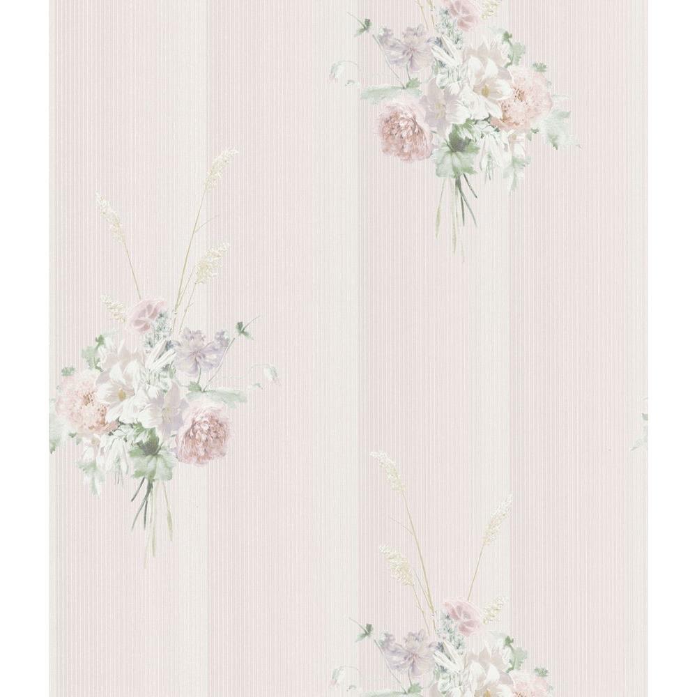 Brewster 56 sq. ft. Floral Bouquet Wallpaper