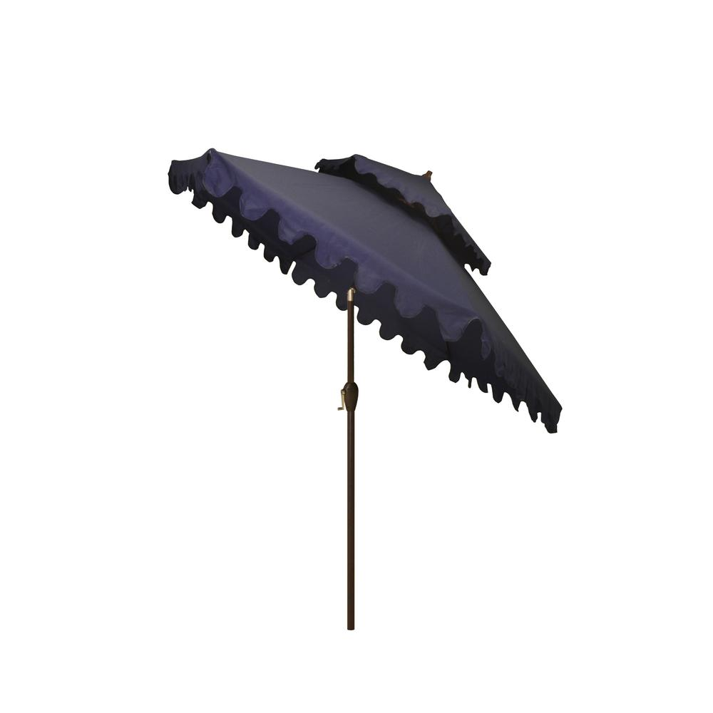 Hampton Bay 9 ft. Aluminum Market Outdoor Patio Umbrella in Navy